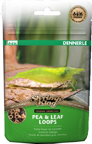 Корм для креветок Dennerle Shrimp King Pea & Leaf Loops 30г