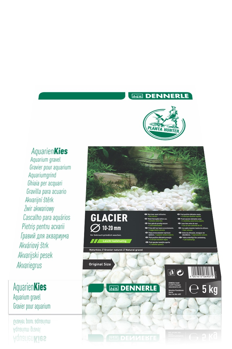 Грунт Dennerle Nature Gravel PlantaHunter Glacier 5кг 10-20мм