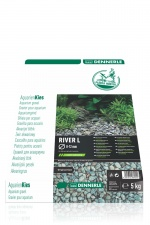 Грунт Dennerle Nature Gravel PlantaHunter River L 5кг 8-12мм