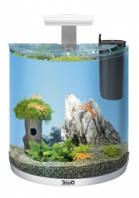 Аквариум дуговой Tetra AquaArt Explorer Line LED Tropical 60л белый